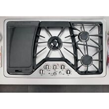 GE CGP650SET Stainless Steel 36 in  Gas Gas Cooktop