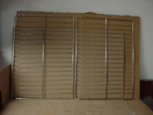 Hotpoint Range Oven Rack w Some Wear Staining Lot 2 Part  WB48K0004 WB48T10095