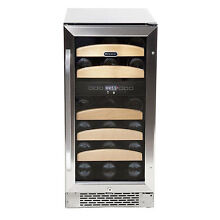 Whynter 28 Bottle Dual Zone Built In Wine Refrigerator