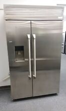GE Monogram 48  Built In Pro Refrigerator ZISP480DKSS Floor Model RETAILS  9950