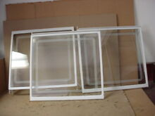 GE Refrigerator Glass Shelf Assembly Lot of 3 Part   WR71X2623