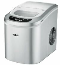 RCA Ice Maker Portable Small Appliance Compact LED Silver Electric Machine