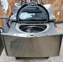 LG Sidekick WD100CV 1 cu ft 27 in Pedestal Washer Graphite Steel