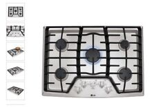 LG 36 in Gas Cooktop in Stainless Steel with 5 Burners 17K Super Boil Burner