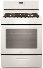 Whirlpool 119253 30 Inch  5 1 Cu  Ft  Single Oven Free Standing Gas Range  White