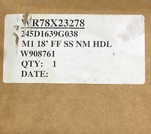 NEW Genuine OEM GE Refrigerator STAINLESS DOOR ASSEMBLY WR78X23278