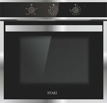 HYAKI 24  Tempered Glass Push Button Electric Built in Single Wall Oven