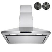 AKDY 30  Wall Mount Stainless Steel Touch Control Kitchen Ductless Range   New