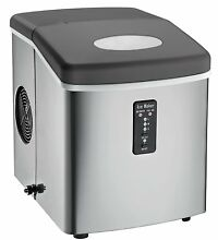 OpenBox Igloo ICE103 Counter Top Ice Maker with Over Sized Ice Bucket  Stainless