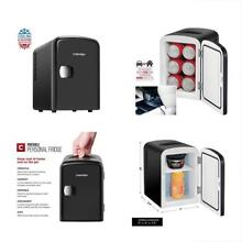 12 Can Portable Personal Compact Fridge Cool Home Car Power Outlet Travel Space