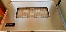 Viking Oven Outer Door Panel SS  with label  B2002931 SATF GUAR