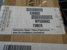 WHIRLPOOL KENMORE DRYER TIMER PART   3389662 FITS MOD   110 86982310 NEW