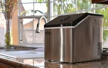 Small Ice Maker Countertop Large Clear Cubes Portable Home Electric Stainless