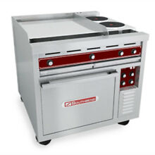 Southbend SE36A HHB 36  Electric Restaurant Range Oven 2 Flat   2 Round Hotplate