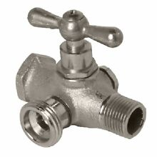 Arrowhead  1 2  Bypass  Red Brass  Washing Machine Valve