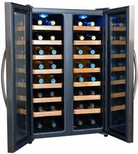 Wine Cooler Dual Zone 32 Bottle Thermoelectric Free Standing NewAir AW 321ED