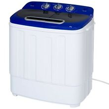 Portable Compact Mini Twin Tub Washing Machine   Spin Cycle Dryer w  Hose  Quiet