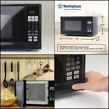 Counter Top Microwave Oven 900 Watt  0 9 Cubic FT Stainless Steel Black Cabinet
