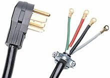 Certified Appliance Accessories 4 Wire Closed Eyelet 30 Amp Dryer Cord  4ft