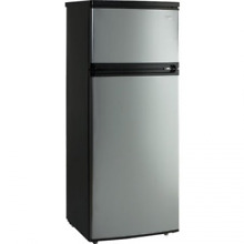 Avanti 7 4 Cu Ft Apartment Refrigerator Black Platinum Compact Top Freezer