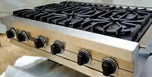 Viking Professional  Stainless Steel 7 Series 36 Inch Pro Style Gas Rangetop