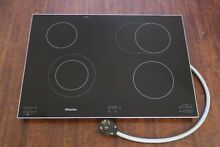 Miele KM5656 30  Electric Smoothtop Cooktop 6 Cooking Zones w Infrared Controls