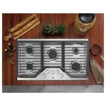 GE 36  Built In Gas Cooktop in Stainless Steel with 5 Burners Power Boil Burner