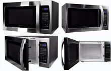 Professional 3 Cubic Foot 1000W Microwave Oven Stainless Steel 10 Power Levels
