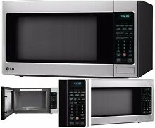 LG 2 0 Cu Ft Counter Top Microwave Oven TrueCookPlus Technology Easy Clean Steel