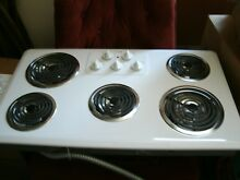 Maytag Model MEC4436AAW Electric 5 burner drop in cooktop 36  x 21