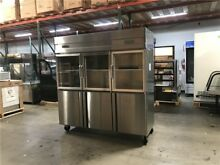Glass door refrigerator freezer RG46 6 door COMMERCIAL COOLER RESTAURANT