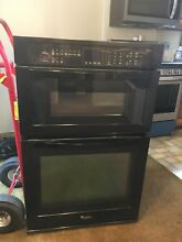 Whirlpool Self cleaning with Steam Microwave Wall Oven Combo WOC54EC7AB