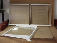 Hotpoint Refrigerator Glass Shelf in Frame Lot of 3 Part   WR71X10239 WR32X10169