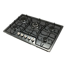 30 inch Titanium Stainless Steel 5 Burners Cooktop Built In Stove LPG NG Gas Hob