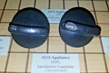 PAIR  2  Thermador Range Burner Knobs DAMAGED  HEAVY  00414832  20 02 584 01