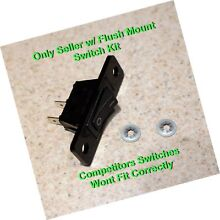 Aftermarket Replacement Jenn Air Cooktop   Stove Fan Switch   2 Wires Black