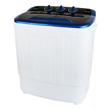Kenwell Portable Washing Machine 13LBS Mini Twin Tub Laundry Washer Spin Dryer