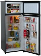 Apartment Refrigerator And Freezer 2 Door Fridge Garage Basement 7 3 cu ft Black