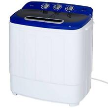 Portable Compact Washing Machine Mini Twin Tub Laundry Spin Dryer Lightweight