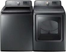 Samsung Pre Soak Option Platinum Washer   Dryer Set WA45H7000AP   DV45H7000EP