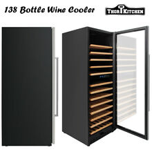 138 Bottle Chiller Wine Cooler Refrigerator Dining Bar Wine Shelf Freestanding