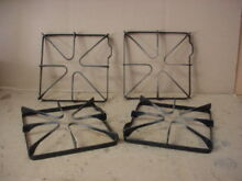 Frigidaire Range Burner Grate Set w  Wear Stains Lot of 4 Part   316088900