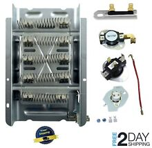 3398064 Dryer Heating Element for Whirlpool Kenmore Maytag Thermostat Kit Fuse