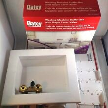 Oatey Washing Machine Outlet Box Single Lever Brass Ball Valve 38822 White Drain