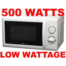 LOW WATTAGE  Igenix 500 Watts Caravan Microwave 20L White