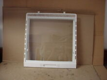 Frigidaire Refrigerator Drawer Frame w  Glass Part   215124343