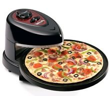 New Rotating Pizza Oven Presto 03430 Pizzazz Plus Black Bake Fresh or Frozen