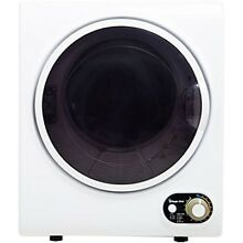 Laundry Dryer 1 5 cu ft White Small Apartment Tub Dry Vent Spin Heat Quiet Tiny