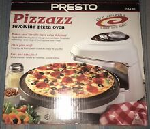 Presto Pizzazz Electric Rotating Pizza Oven   New In Box
