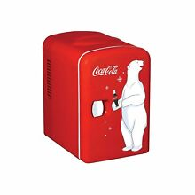 Coca Cola 0 14 cubic foot Retro Fridge in Red
